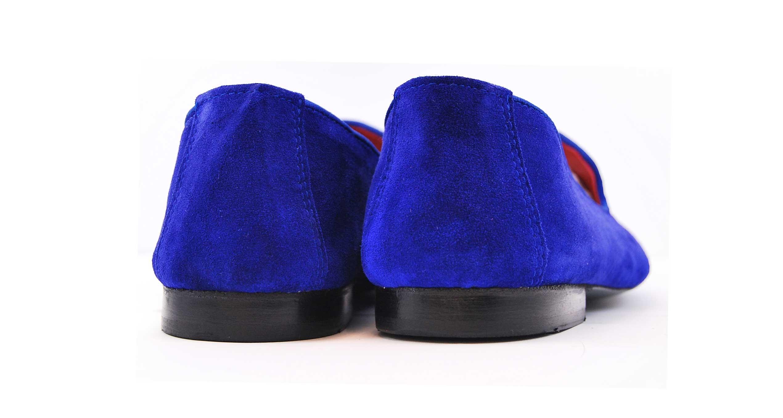Foto 4 de Velvet slippers azulon 884 bordado flor de lis cobre