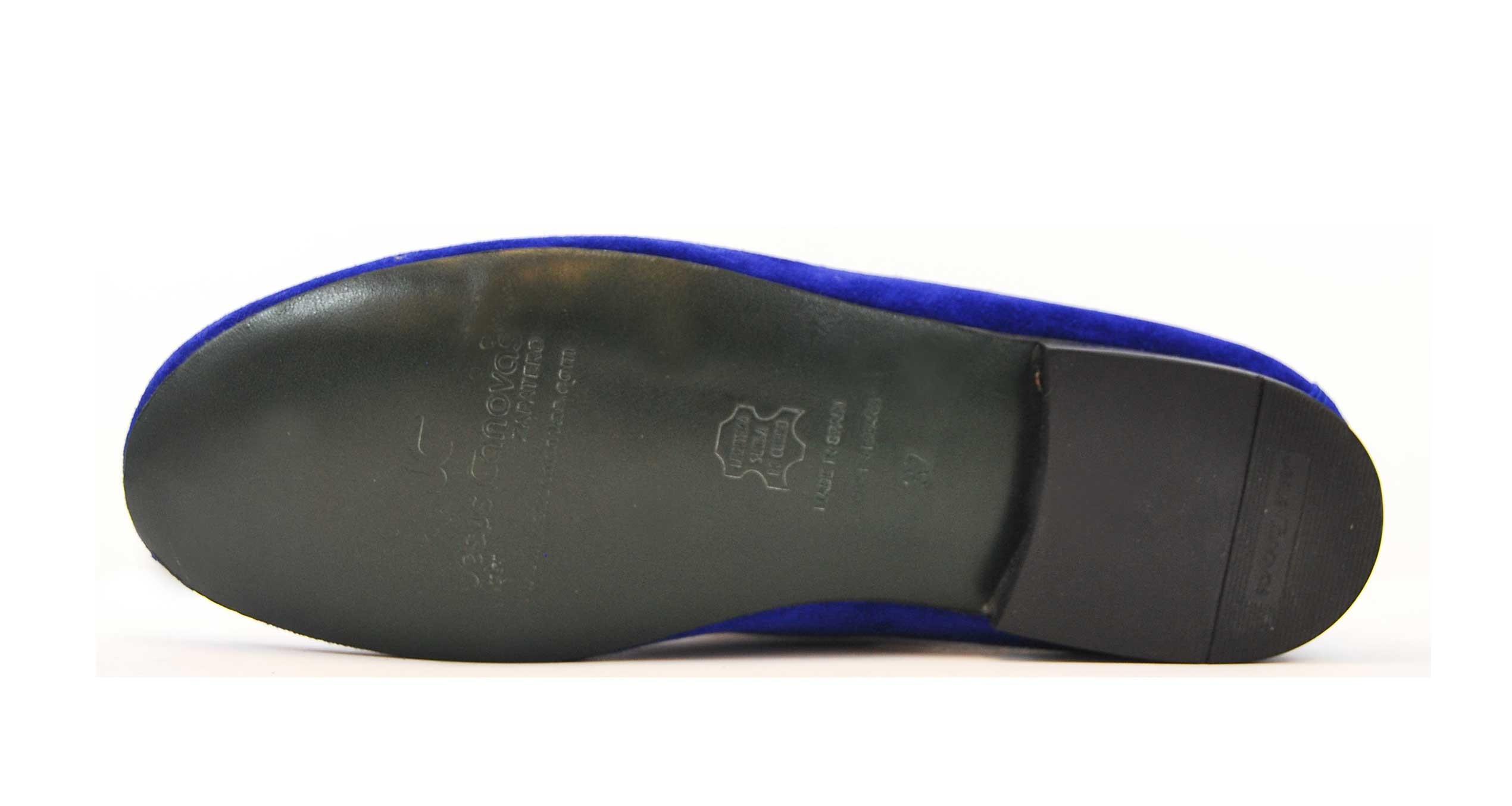 Foto 3 de Velvet slippers azulon 884 bordado flor de lis cobre